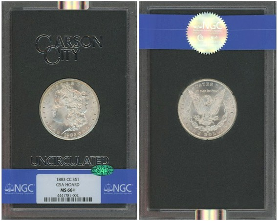 1883 GSA Carson City Morgan Dollar MS66+ NGC CAC