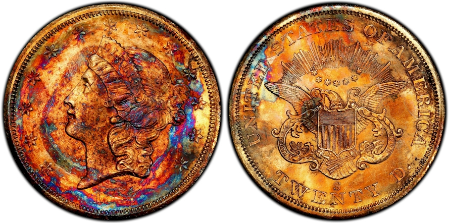 1857 S Double Eagle recovered from the S.S. Central America will be on display at the Long Beach Expo